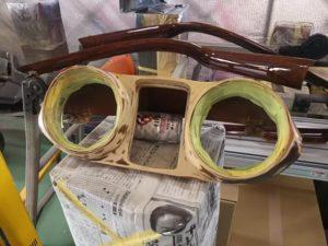 11号ブログ .W112. W111.1964年 ベンツ 300SE .ウッドパネル 木目 の 修理 と レストア 内装系 その 1