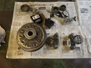 33号ブログ.CRR.レンジローバー・クラシックレンジ・フロント デフ・駆動系 修理 その2