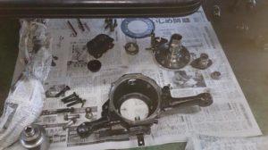 47号ブログ. CRR.レンジローバー、クラシック、スイベルオイルもれ修理 その 2