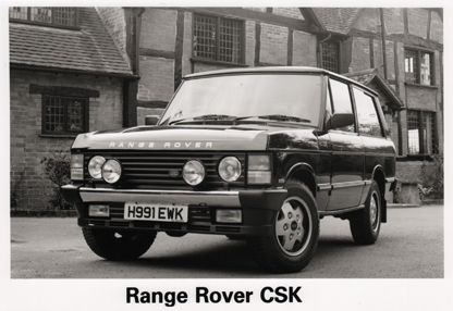 1990 Sept - Range Rover CSK - Press release - Vehicle