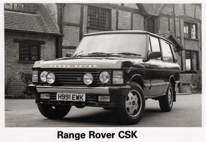 1990 Sept - Range Rover CSK - Press release - Vehicle